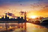 Big Ben and Houses of Parliament at Dusk, London, Uk Photographic Print by Beatrice Preve