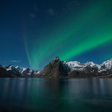 Northern Lights - Aurora Borealis Shine in Sky Photographic Print by Emma Sampson