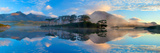Misty Morning Reflection of the Twelve Bens in Derryclare Lough, Connemara, Co Galway, Ireland Photographic Print by Gareth McCormack
