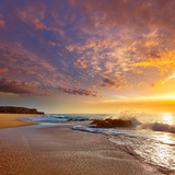 El Cotillo Castillo Beach in Fuerteventura at Canary Islands of Spain Photographic Print by  Naturewolrd