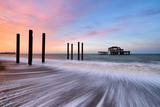 The Remains of Brighton's West Pier Photographic Print by Helen Dixon