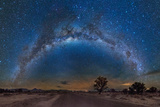 Milky Way Reflected over the Atacama Desert Photographic Print by Giulio Ercolani