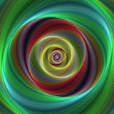 Colorful Abstract Geometric Spiral Design Background Photographic Print by David Zydd