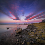 Sunset, Stokksnes, by Hofn and Hornafjordur, Iceland Fotodruck von Ragnar Th Sigurdsson