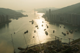 Hong Kong Water View from High Up in a Tall Building Photographic Print by Jason Lovell
