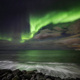 Aurora Borealis or Northern Lights, Seltjarnarnes, Reykjavik, Iceland Photographic Print by Ragnar Th Sigurdsson