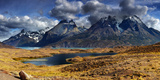 Mountain Panorama, Torres Del Paine National Park, Patagonia, Chile Photographic Print by Dmitry Pichugin