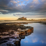 Bamburgh Castle in Evening Sunlight Photographic Print by Chris Mcilreavy