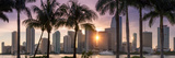 Florida, Miami Skyline at Sunset Photographic Print by John Kellerman