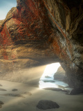 Sea Cave at Low Tide. Devil's Punchbowl State Natural Area. Oregon Photographic Print by Dennis Frates