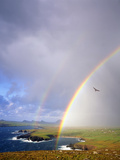 Ie - Co. Kerry: Rainbow over Ballyferriter Bay on the Dingle Peninsula Photographic Print by Edmund Nagele