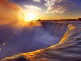 Brink of Niagara Falls Canadian Horseshoe Beautiful Sunrise Scenery. Niagara Falls, Ontario, Canada Photographic Print by Alex Maxim