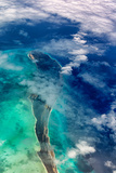 Aerial View of Islands and Clouds in the Bahamas Photographic Print by Dennis Frates