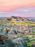 Colorful Formations in Badlands National Park, South Dakota Photographic Print by Dennis Frates