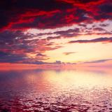 Cloudy Sunrise Seascape Photographic Print by Nickolay Khoroshkov
