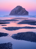 Low Tide Pools and Seastacks Reflecting Sunrise. Bandon Beach. Oregon Photographic Print by Dennis Frates