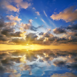 Beautiful Sunset on the Sea. Beautiful Seascape Photographic Print by Oleh Honcharenko