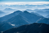 Aerial View, View to the South, Upper Bavaria, Germany Photographic Print by Klaus-Peter Wolf
