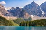 Lake Moraine, Near Lake Louise, Banff National Park, Canadian Rockies Photographic Print by Luis Leamus