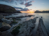 A View Along the Ledges at Lulworth Cove in Dorset Photographic Print by Chris Button