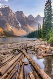 Moraine Lake, Glacial Lake in Banff National Park Photographic Print by Luis Leamus