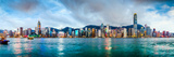 Hong Kong, China Skyline Panorama from across Victoria Harbor Photographic Print by Sean Pavone