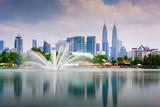 Kuala Lumpur, Malaysia Skyline at Titiwangsa Park Photographic Print by Sean Pavone