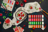 Shades of Strawberry Photographic Print by Dina Belenko