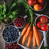 Mix of Fruits, Vegetables and Berries Photographic Print by Natasha Breen