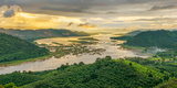 Aerial View of Mekong River and Forest, Thailand Photographic Print by Marianne Winther