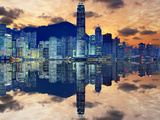 Skyline of Hong Kong Island Photographic Print by Sean Pavone