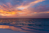 Gorgeous Sunset over Ocean, Panorama of Tropical Island, Maldives Photographic Print by Maryna Patzen