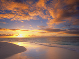 Anguilla, British West Indies: Setting Sun over Caribbean Waters Photographic Print by Terry Donnelly