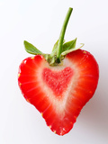Heart Shaped Strawberry Half Photographic Print by Paul Williams