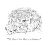 """Triple-A batteries, double-A batteries, aardvarks, ants ..."" - New Yorker Cartoon Premium Giclee Print by Michael Maslin"
