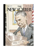 The New Yorker Cover - November 28, 2016 Regular Giclee Print by Barry Blitt