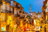 Porto, Portugal Cityscape Towards Clerigos Church Photographic Print by Sean Pavone