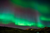 Northern Lights or Aurora Borealis over Mt. Ulfarsfell, Near Reykjavik, Iceland Photographic Print by  Arctic-Images