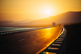 View of Empty Road at Sunset Photographic Print by  Lamzeon