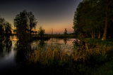 Sunset at the Northern of Deer Point Lake in Bay County, Florida, United States Photographic Print by Terry Kelly