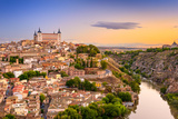 Toledo, Spain Old City over the Tagus River Photographic Print by Sean Pavone