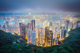 Hong Kong, China City Skyline from Victoria Peak Photographic Print by Sean Pavone