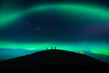 Photographing Auroras and Icebergs at Glacial Lagoon, Vatnajokull Ice Cap, Iceland Photographic Print by Ragnar Th Sigurdsson