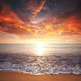 Sea Sunset Photographic Print by Paul Watzlaw