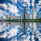 Xiamen, China Skyline on Yundang Lake Photographic Print by Sean Pavone