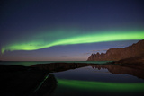 Northern Lights or Aurora Borealis with Reflection in Water, Senja, Norway Photographic Print by Klaus-Peter Wolf