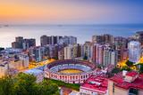 Malaga, Spain Cityscape at Dawn Photographic Print by Sean Pavone