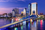 Jacksonville, Florida, USA City Skyline on St. Johns River Photographic Print by Sean Pavone