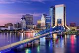 Jacksonville, Florida, USA City Skyline on St. Johns River Photographic Print by Sean Pavone