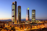 Madrid, Spain Financial District Skyline at Twilight Photographic Print by Sean Pavone